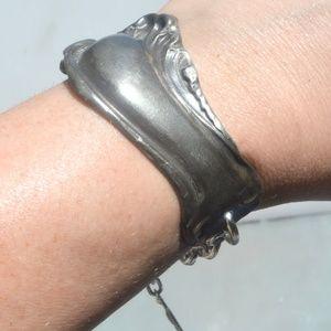 Gothic Silver Antique Cuff Dark Patina Bracelet
